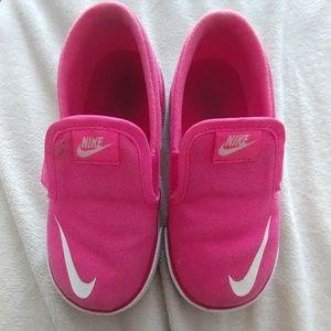 Pink Nike Slip-Ons Toddler Girl